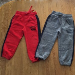 Osh Kosh B'gosh Boys sz 4 Red & Gray sweats EUC
